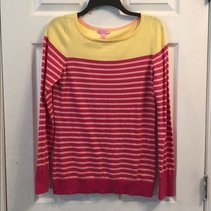 Lilly Pulitzer pink and yellow sweater